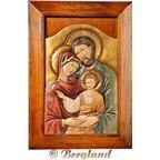Icona Sacra Famiglia Bizantina Con Cornice Sfamiglia Da Appendere